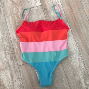 Other - NWOT Striped swimsuit size xs